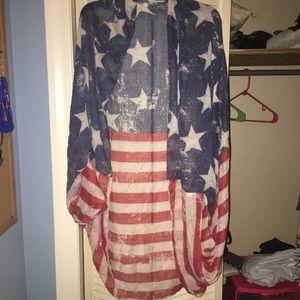 American flag cover up kimono